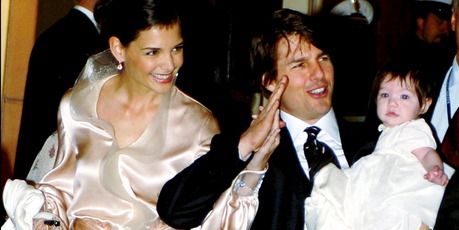 Tom Cruise and Katie Holmes in Rome for wedding. Photo / Getty