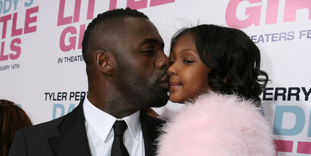 Idris Elba and daugther Isan. Photo / Getty