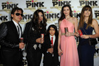 Blanket pictured between Prince Jackson, LaToya Jackson, Monica Gabor and Paris Jackson in 2012. Photo / Getty Images