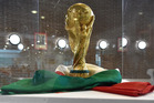 FIFA World Cup Trophy is displayed during an exhibition of Italian Football Federation Trophies and Memorabilia. Photo/Getty Images