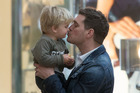 Michael Buble and his son Noah in Madrid, Spain in 2015. Photo / Getty