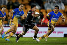 Issac Luke of the Warriors against the Eels. Photo / Getty