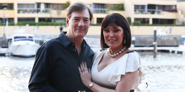 Lisa Oldfield with her husband David at The Real Housewives of Sydney launch. Photo / Getty Images