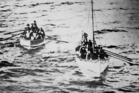 Titanic's lifeboats on their way to the Carpathia. Photo / Getty Images
