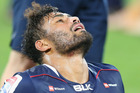 Amanaki Mafi of the Rebels reacts after defeat against the Waratahs at AAMI Park. Photo/Getty Images
