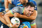 Jordan Rapana of the Raiders in action during the round six NRL match against the Titans. Photo / Getty Images