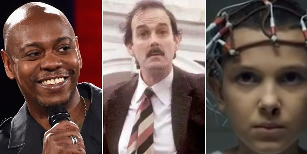 Dave Chappelle, Fawlty Towers and Stranger Things.