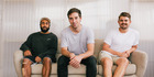 Left to right: Motion Sickness founders Jono De Alwis, Sam Stuchbury and Alex McManus.