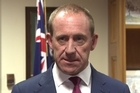 Andrew Little fronts the media following the jury verdict that found he had defamed Earl Hagaman in only one of six counts