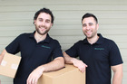 Brothers Cam (left) and Nate Whitaker, co-founders of MovingPros, say so far in 2017 the Bay is the most popular destination for Aucklanders. Photo/Supplied
