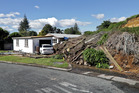 THREAT: A slip in Omokoroa on Friday. PHOTO / ANDREW WARNER