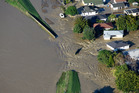 The Rangitaiki River breached its western bank and flooded Edgecumbe on Thursday. Photo/file