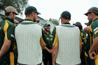 TOP EFFORT: Mount Maunganui captain Dale Swan, centre, was named Bowler of the Tournament. PHOTO: FILE