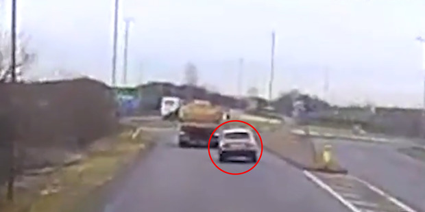 Tania Chikwature attempted to overtake a truck as she was approaching a roundabout.