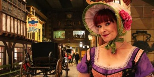 Comedienne Penny Ashton plays 15 different characters in her Charles Dickens-inspired play, Olive Copperbottom.