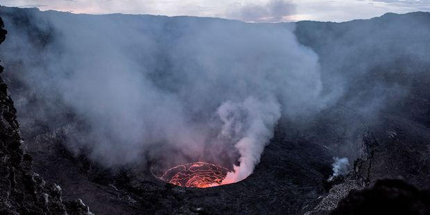 Nyiragongo in the Democratic Republic of Congo produces a fast-moving form of runny lava. Photo / 123RF