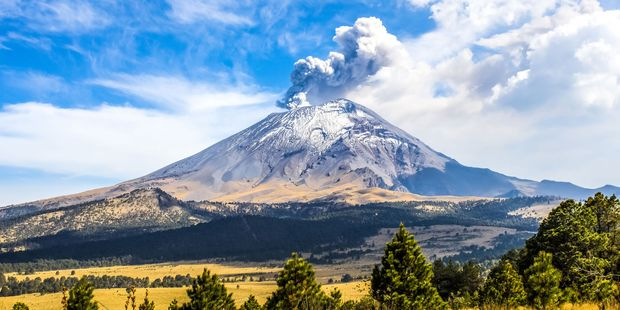 """The regularly active Popocatepetl, or """"Popo"""", in Mexico is a mere 70km from Mexico City - one of the world's largest cities with a population of 20 million. Photo / 123RF"""