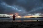 All was calm on Whitianga Beach this morning. Photo / Brett Phibbs