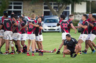 WINNING FEELING: Arataki Sports players celebrate at the final whistle against Rangataua Sports. PHOTO: ANDREW WARNER