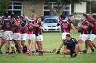 WINNING FEELING: Arataki Sports players celebrate at the final whistle against Rangataua Sports. PHOTO: ANDREW WARNER