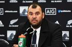 Australian coach Michael Cheika at the post-match press conference, All Blacks v Australia. Photo/Photosport