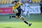 Nehe Milner-Skudder of the Hurricanes runs in a try during the Super Rugby match against Melbourne Rebels. Photo/Photosport