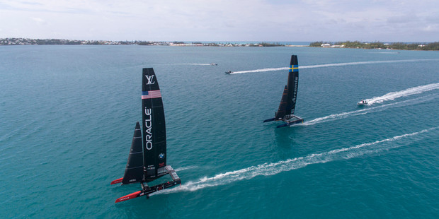 Action awaits at the America's Cup in Bermuda. Photo / Sam Greenfield, Oracle Team USA