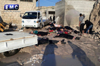 This photo provided on April 4, 2017, shows victims of a suspected chemical attack, in the town of Khan Sheikhoun. Photo / AP