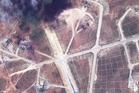 The northwest side of the Shayrat air base in Syria, following U.S. Tomahawk Land Attack Missile strikes. Photo / DigitalGlobe via AP
