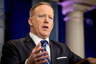 White House press secretary Sean Spicer was talking about last week's chemical attack in Syria. Photo / AP
