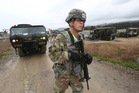 A US Marine soldier conducts the US-South Korea joint Exercise Operation Pacific Reach in Pohang. Photo / AP