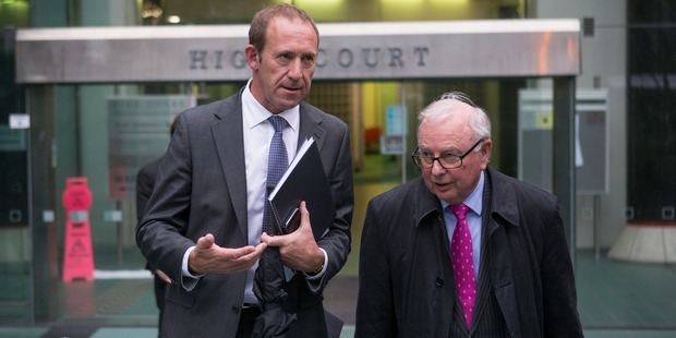 Loading Labour Party leader Andrew Little leaving the Wellington High Court with his lawyer, John Tizard. Photo / Mark Mitchell