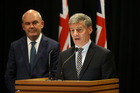 Prime Minister Bill English, right, and Finance Minister Steven Joyce. Photo / Mark Mitchell