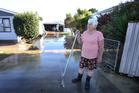Taneatua resident Antoinette Spencer, 70, starts the cleanup of her property. Photo/John Borren