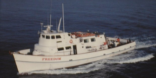 """""""Freedom"""", the boat that Patrick McDermott disappeared from."""