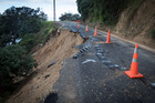 Kawakawa Bay road damage from heavy rain has delayed repair to the power lines. Photo/Jason Oxenham