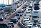 Daily traffic congestion on the Auckland Harbour Bridge. Photo/ file