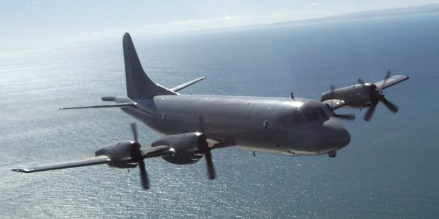 An air force Orion left Auckland this morning to help search for yacht. Photo / Supplied