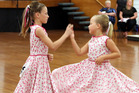 Priya O'Connell, left, and Chloe Graham compete in the Junior Rock 'n' Roll championships in Whanganui in 2014. Photo/Stuart Munro