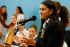 Whangarei Girls' High School head girl Justice Hetaraka, 18, wants to see the normalisation of Maori culture and received a Change Maker Award (Cultural) award for the changes at WGHS that introduced a non-denominational school karakia. Photo/John Stone