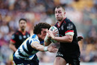 Kieran Foran is a couple of games into his comeback with the Warriors. Photo / Getty