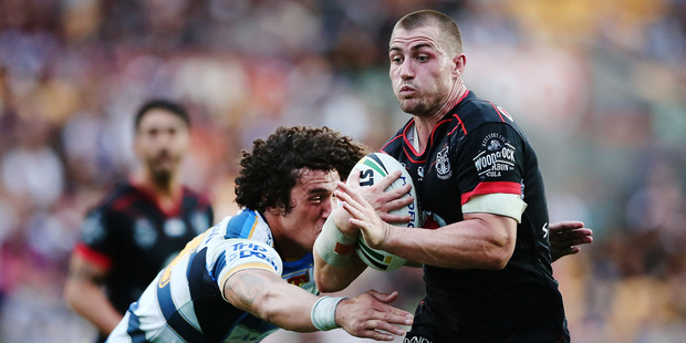 Loading Kieran Foran is a couple of games into his comeback with the Warriors. Photo / Getty