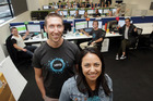 Marc Burborough and Rachel Nowicki, from Xero in Napier, gearing up to take on 40 additional staff.