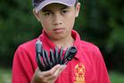 Jacob Hansen, 11, had his bike combination lock cut and bike stolen from Hastings Intermediate School, Photo Duncan Brown