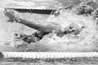 Swimmer Rebecca Perrott wins the 100m freestyle at the 1979 national winter championships. Photo/NZ Herald