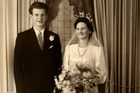 John and Ailsa Grose 70 years ago at the start of a lifetime together. Photo / Supplied