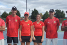Tennis Bay of Plenty, from left, Jessie Galvin-Dawson, Justin McGraw, Mia Middleton, Mia Wardlaw, James Wilce and Shaun Tamai. Team members absent: Brendan McCashin and Aliya Edwards. Photo/Supplied