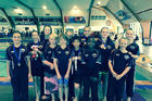 The Swim Rotorua squad at the Bay of Plenty rising stars meet on the weekend. Photo/Supplied