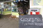 Thieves ram-raided the Takapau Four Square with a stolen vehicle to access the shop before stealing a cabinet of cigarettes. Photo/Clinton Llewellyn
