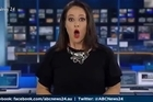 Australian news presenter Natasha Exelby was presenting an evening bulletin when she found herself completely unaware she was back live on air. Source: ABC News 24